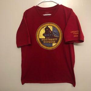 Universal Harry Potter Hogwarts express shirt red